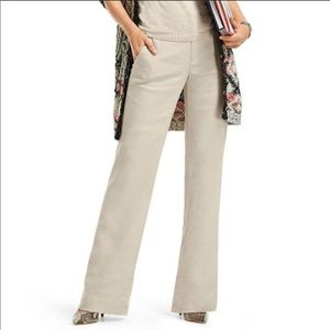 Cabi Everly Linen Blend Pant In Sand